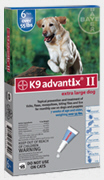 Advantix II Dogs 56+ lbs Blue 6 months