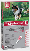 Advantix II Dogs 21-55 lbs Red 6 months