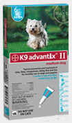 Advantix II Dogs 11-20 lbs Teal 6 months