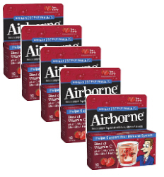 Airborne Eff Tabs Very Berry Value Pak