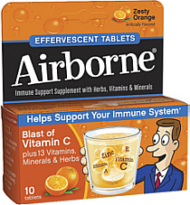 Airborne Effervescent Tabs Zesty Orange 10s