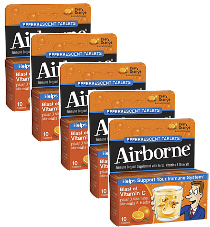 Airborne Effervescent Tabs Zesty Orange Value Pack