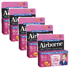 Airborne Eff Pink Grapefruit Family Value Pack (5)