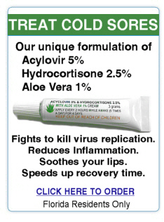 Acyclovir Cream with Aloe Vera and Hydrocortisone for cold sores