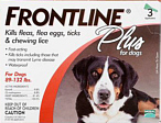 Frontline Plus for Dogs 89-132 lbs
