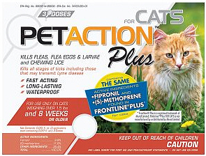 Pet Action Plus for Cats 3 month supply