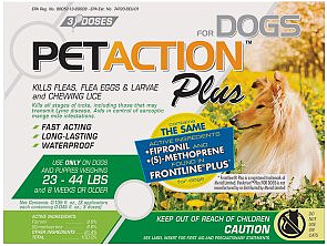 Pet Action Plus Medium Dogs 3 months supply
