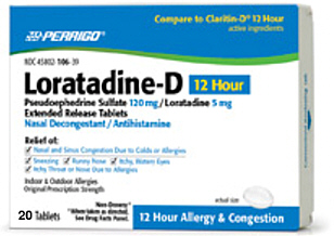 Loratadine-D 12 Hour, 20 Tablets